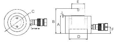 Гидравлический домкрат Триторк, низкий.