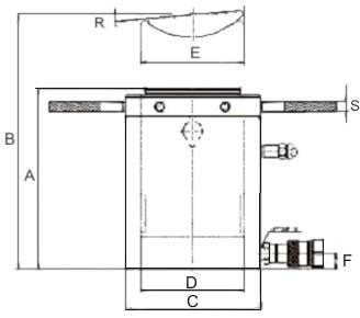 Гидроцилиндр низкий Tritorc блокировочной гайкой