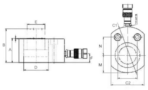 Гидравлический домкрат Триторк, плоский.