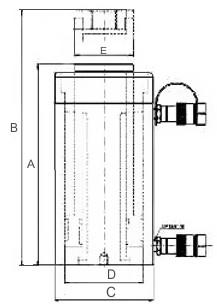 Гидравлический домкрат двухстороннего действия Триторк DHH.