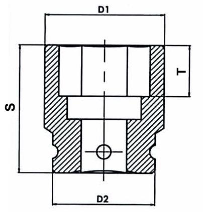 Головки ударные стандартные шестигранные, размеры.