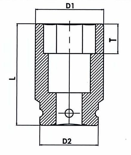 Ударные головки удлиненные шестигранные, размеры.